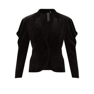 Norma Kamali - Wing Cotton-blend Velvet Jacket - Womens - Black