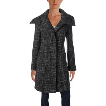 Jones New York Womens Midi Coat Winter Wool