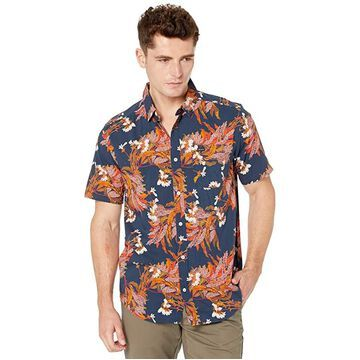 RVCA Paradiso Short Sleeve (Navy) Men's Clothing