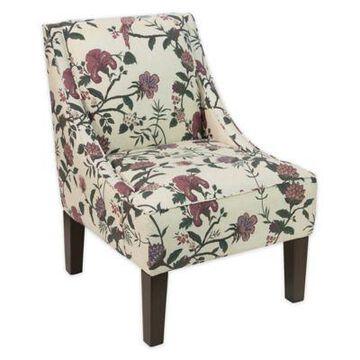 Skyline Furniture Dorie Swoop Armchair in Floral