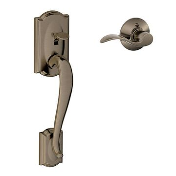 Schlage Camelot Antique Pewter Residential Entry Door Replacement Handleset