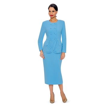 Giovanna Signature Women's 2-piece Double Breasted Skirt Suit