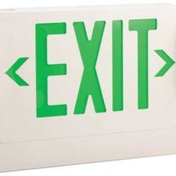LUMAPRO 6CGL8 LUMAPRO Incandescent Exit Sign with Emergency Lights