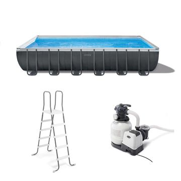 Intex 24-ft x 12-ft x 52-in Rectangle Above-Ground Pool | 105905