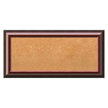 Amanti Art Cambridge Mahogany Framed Cork Board