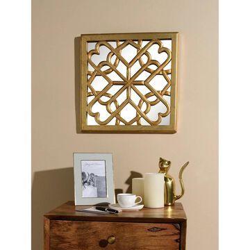 Aurora Home Decorative Square Mirror Wall Panel - Antique Gold - 16W X 16H