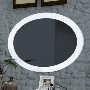 Furniture of America Corrine Oval Wall-Mounted Mirror