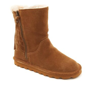 BEARPAW Lindsay Suede Quilted Boot with NeverWet
