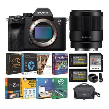 Sony a7R IV 61MP Full-frame Mirrorless Camera with FE 35mm f/1.8 Lens and Accessory Bundle