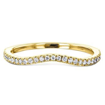 Annello by Kobelli 14K Gold 1/5ct TDW Lab Grown Diamond Curved Wedding Band (DEF/VS) - Fits Annello 61769 Series