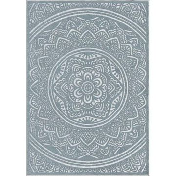 Orian Rugs Farmhouse Indoor/Outdoor Mandala Harbor Blue Rug - 7'9