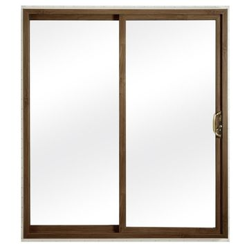 ReliaBilt Grilles Between The Glass White Vinyl Universal Reversible Double Door Sliding Patio Door (Common: 72-in x 80-in; Actual: 70.75-in x 79.5-in)
