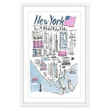Marmont Hill Patriotic NY 24-Inch x 36-Inch Framed Wall Art