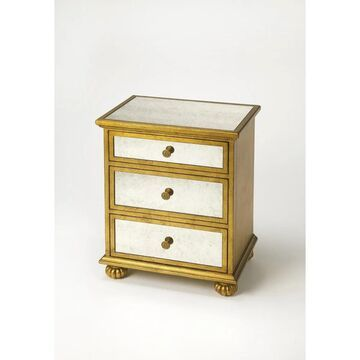Handmade Butler Grable Gold Leaf Accent Chest (China) (Gold)