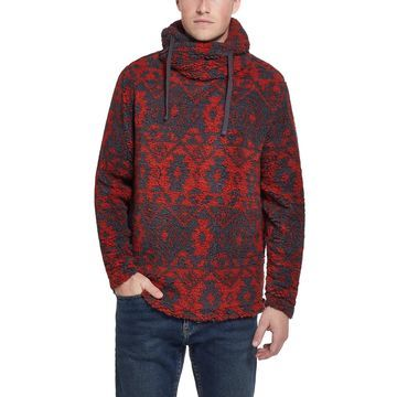 Men's Funnel Neck Hooded Sweater