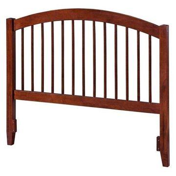 Atlantic Furniture Windsor Queen Spindle Headboard, Walnut