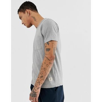 Nudie Jeans Co Kurt worker t-shirt in gray
