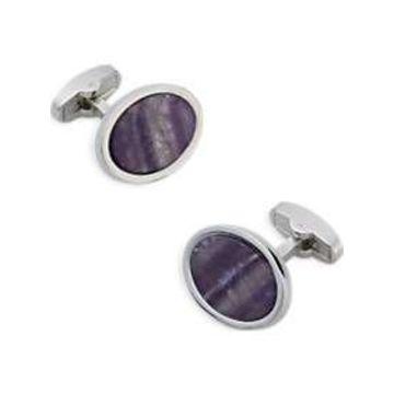 Egara Purple & Silver Cufflinks