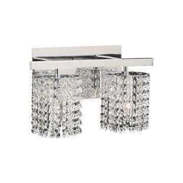 PLC Lighting 2-Light Chrome Modern/Contemporary Vanity Light Bar   72192 PC
