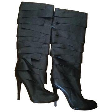 John Galliano \N Black Leather Boots