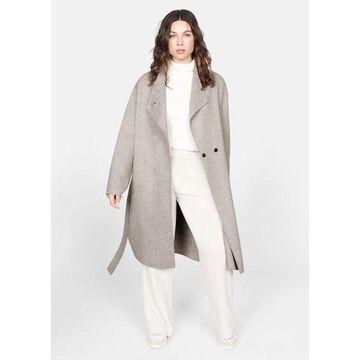Violeta BY MANGO - Unstructured belt coat beige - M - Plus sizes