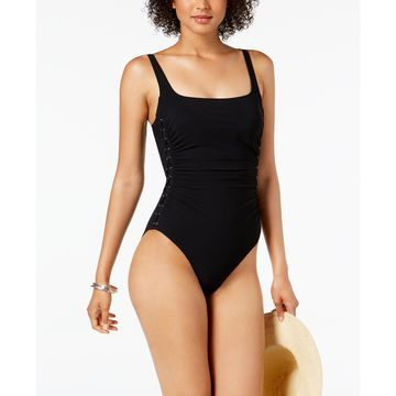 Shirred Tummy-Control One-Piece Swimsuit