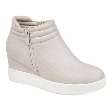 Journee Collection Remmy Women's Sneaker Wedges, Size: 8, Grey