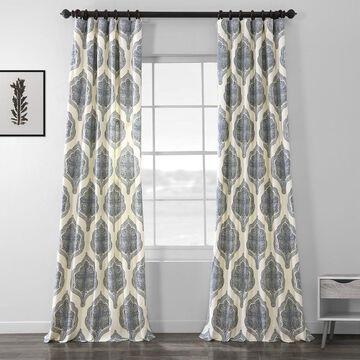 Exclusive Fabrics Arabesque Printed Cotton Twill Curtain