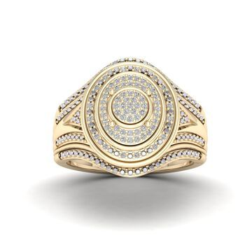 De Couer 1/5ct TDW Halo Diamond Ring - Yellow