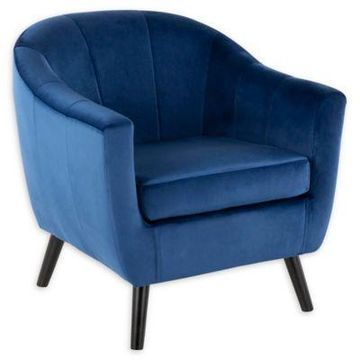 LumiSource Rockwell Accent Chair in Blue