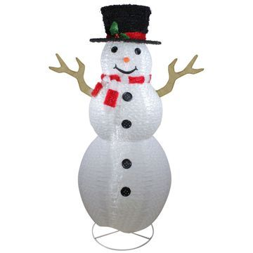 Northlight Large Snowman With Top Hat ChristmasDecoration