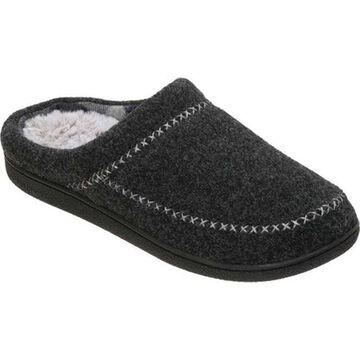 Dearfoams Women's Felt X-Stitch Clog Black Polyester