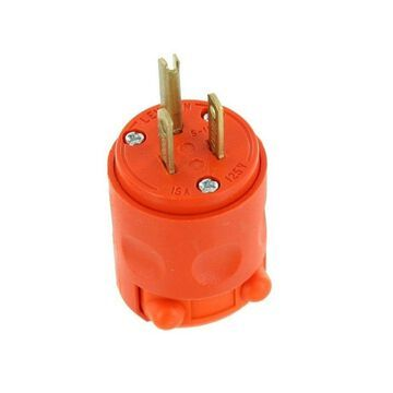 Leviton Wire Plug Commercial 15 Amp Nema 5 - 15 Pole Orange