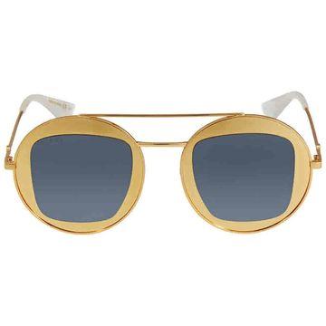 Gucci Round Silver Mirror Sunglasses