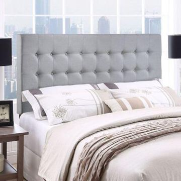 Modway Tinble Upholstered Queen Headboard in Grey