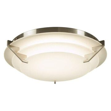 PLC Lighting 1544 Palladium Flush Mount Ceiling Fixture, Satin Nickel