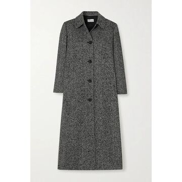 REDValentino - Pleated Herringbone Tweed Coat - Black