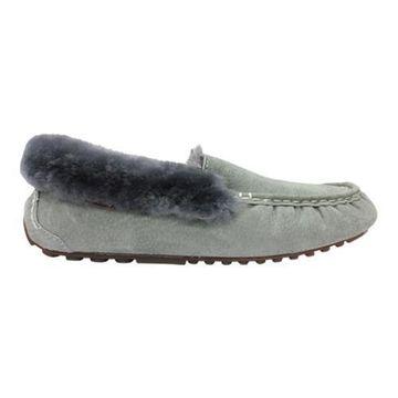 Women's Lamo Aussie Moccasin Slipper Charcoal