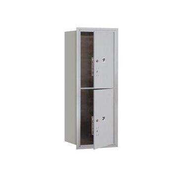 Salsbury Industries Recessed USPS Aluminum 2 Unit 4C Horizontal Parcel Locker