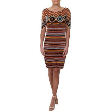 See by Chloe Womens Crochet Striped Casual Dress