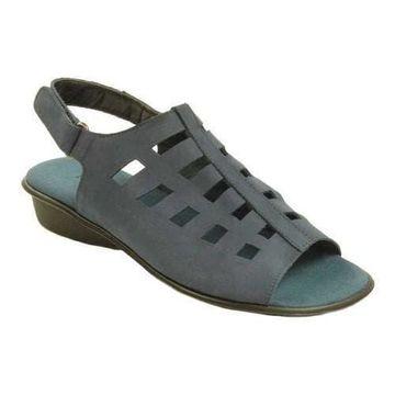 Women's Sesto Meucci Elita Slingback Sandal Navy Nabuk Leather