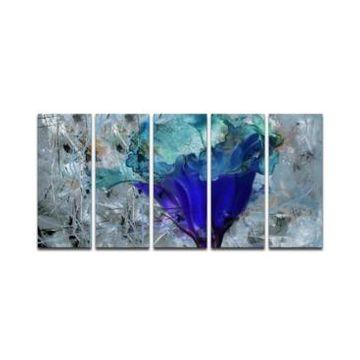 Ready2HangArt 'Painted Petals Lx' Canvas Wall Decor Set