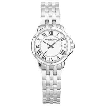 Raymond Weil Women's 'Tango' White Dial Watch (30 Meters - White - 14mm Strap - Three Hand/Water Resistant - Silver-Tone/Silver - 28mm - Stainless