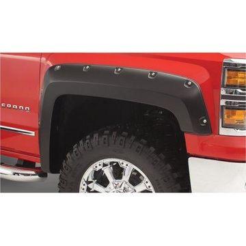 Bushwacker 15-18 Chevy Silverado 2500 HD Pocket Style Flares 2pc - Black