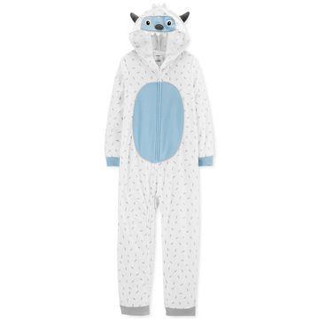 Little & Big Boys 1-Pc. Fleece Abominable Snowman Pajama