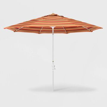11' Sun Master Patio Umbrella Collar Tilt Crank Lift - Sunbrella - California Umbrella