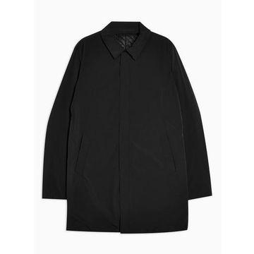 Mens Selected Homme Black Overcoat