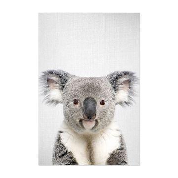 Noir Gallery Koala Peeking Nursery Animal Unframed Art Print/Poster