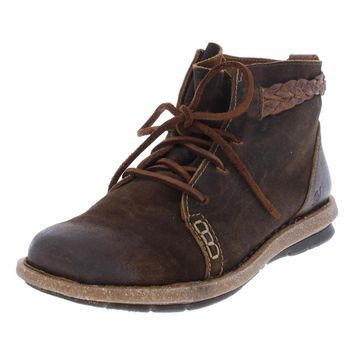 Born Womens Temple Suede Ankle Booties
