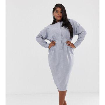ASOS DESIGN Curve utility batwing midi dress